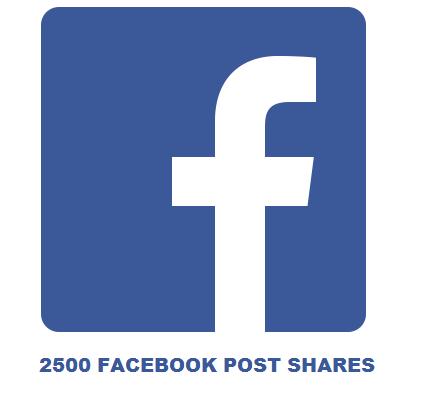 2500 FACEBOOK POST SHARES