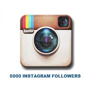 5000 INSTAGRAM FOLLOWERS