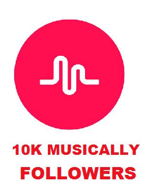 10K MUSICALLY FOLLOWERS