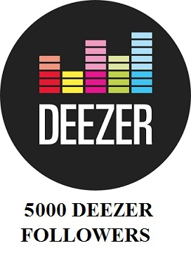 5000 Deezer Followers